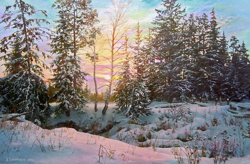 Зимние пейзажи Александра Самохвалова