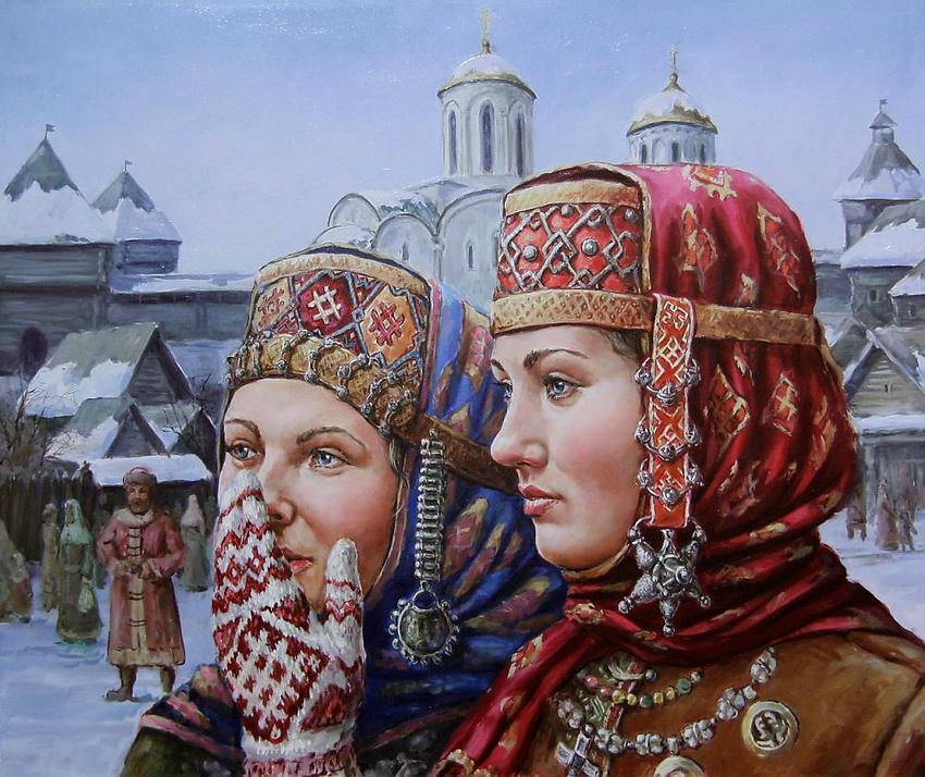 Русь в картинах Михаила Щрилева
